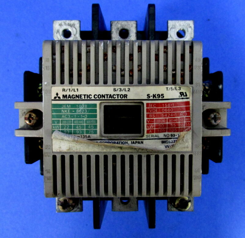 MITSUBISHI ELECTRIC 100-127V COIL MAGNETIC CONTACTOR S-K95 *PZF*