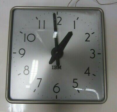 IBM Antique Metal Square Wall Clock - Vintage School & Industrial Clocks