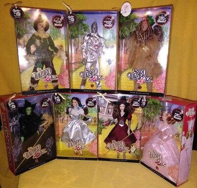NIB Complete Barbie 50th Anniv. Wizard Oz Music Collectible Figures Set Dorothy (Wizard Of Oz Barbie Set)