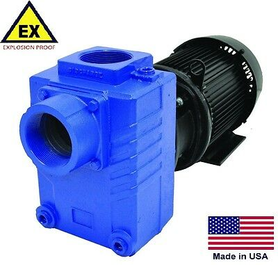 Centrifugal Pump Explosion Proof - Self Priming - 3 Ports - 7.5 Hp 230460v 3p