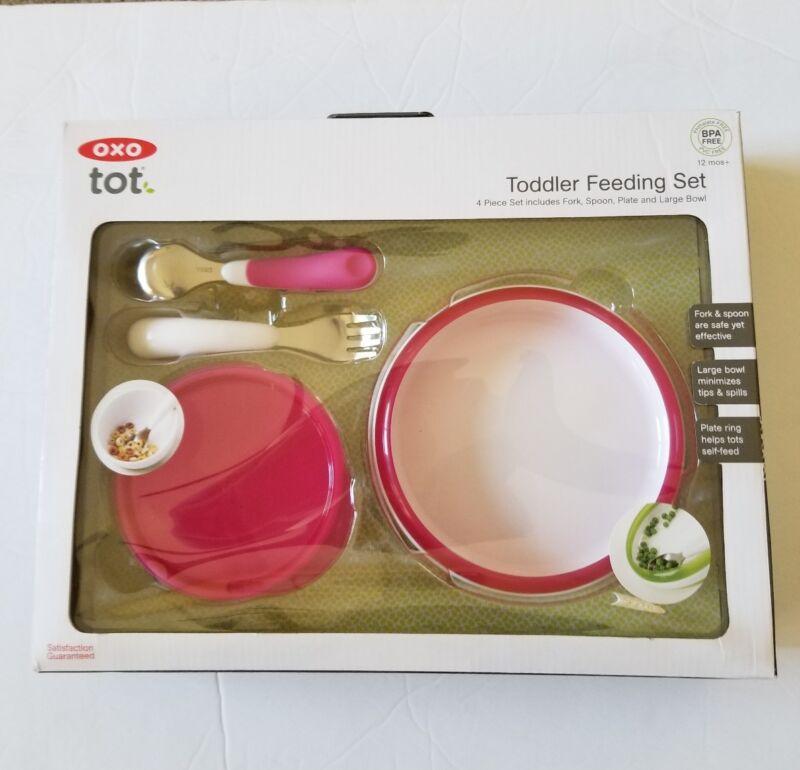 OXO Tot Toddler Feeding Set BPA Free Pink New  in Box