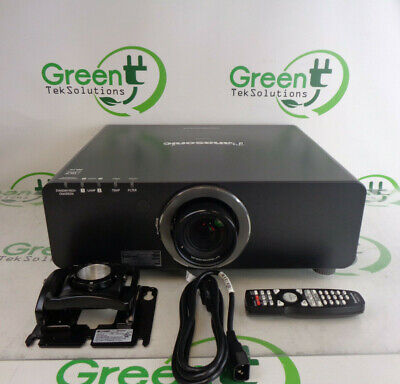 Panasonic PT-DZ6700U Dual Lamp Projector w/ ET-DLE150 Short-Throw Lens 711 Hrs