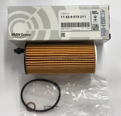 GENUINE BMW OIL FILTER FOR PETROL + DIESEL 1/2/3/4/5/X1/X3 MODELS 11428575211