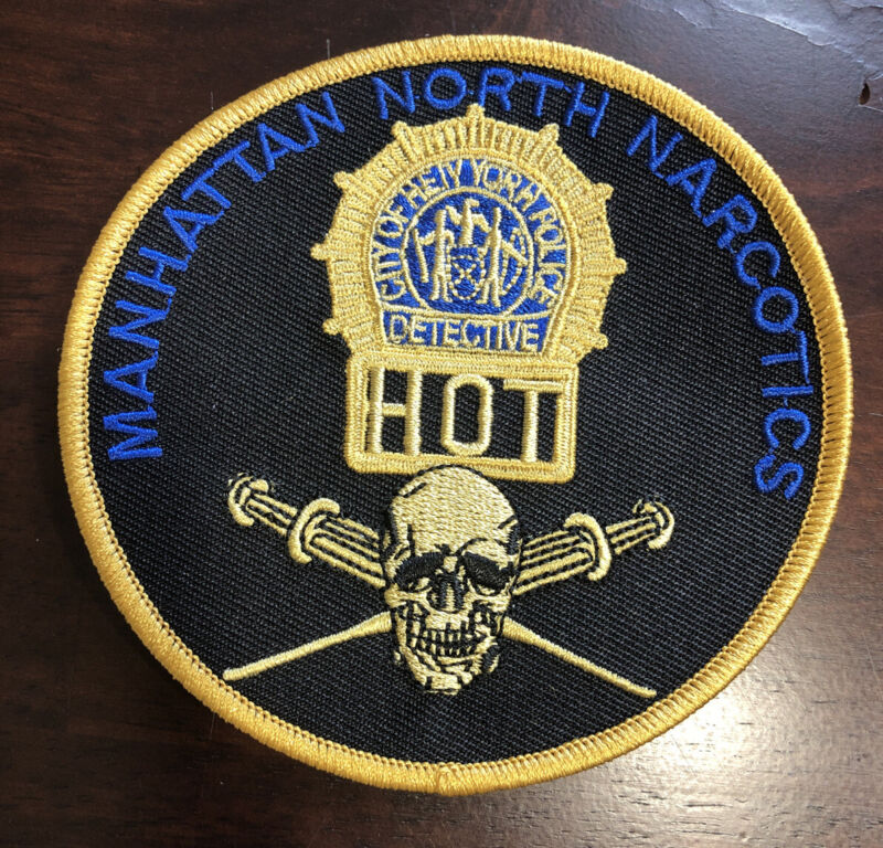 """NYPD Manhattan North Narcotics HOT 4 """" Patch"""