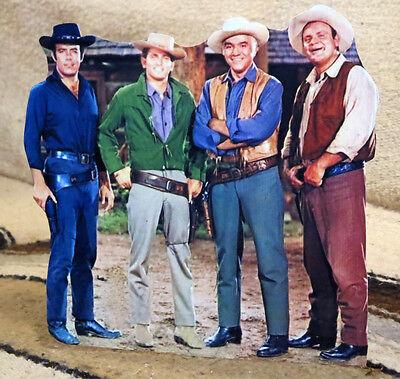 Bonanza TV, Paw, Hoss, Little Joe & Adam Figure Tabletop Display Standee 8