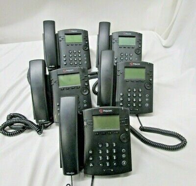 Office Phone System Polycom Vvx 301 6 Line Voip Display Lot Of 5