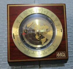 Seiko World Time Desk Mantel Clock Ref#QXG325BL China Slanted View Faux Wood