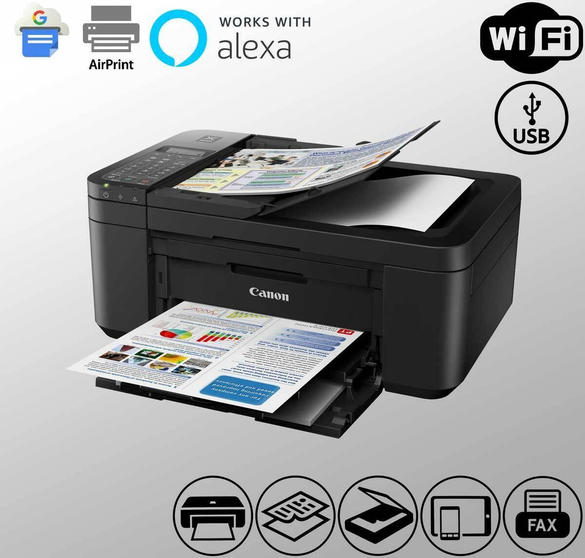 Wireless Canon Fax Printer Scanner WiFi Alexa Duplex Siri Mo