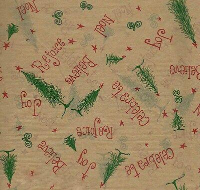Believe ~ Rejoice ~ Noel ~ Christmas Tissue paper # 771 ~ 10 Sheets](Christmas Tissue Paper)