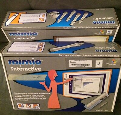 Mimio Xi Usb Interactive Whiteboard Capture Kit Virtual Ink Complete Working Set
