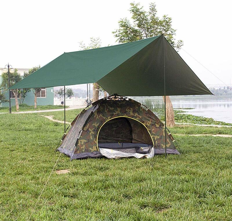 Wasserdichter Regen Tarp Camping Zeltplanen 3x 3M Zelt Shelter  Hängematte Tarp