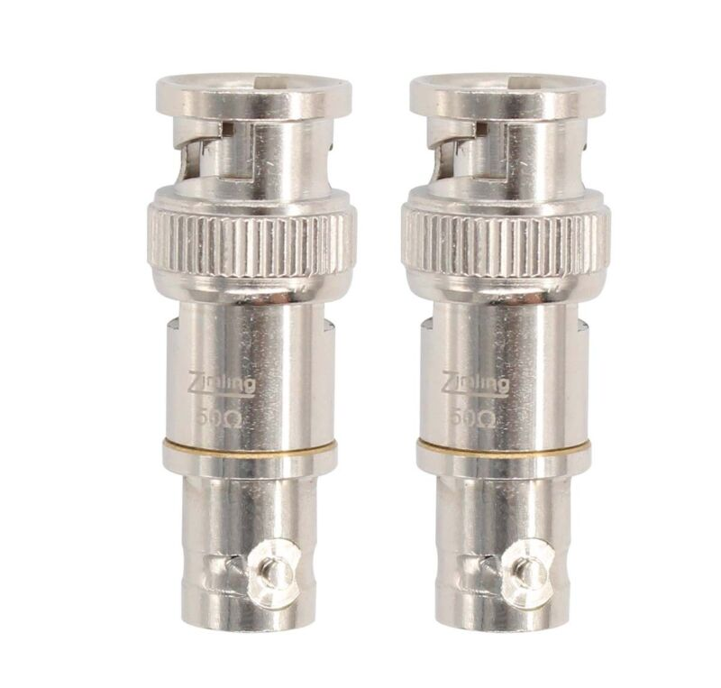 2X Copper Adapter 50Ohm 38.5mm Insert Type BNC Feed Through Terminator NEW 50Ω