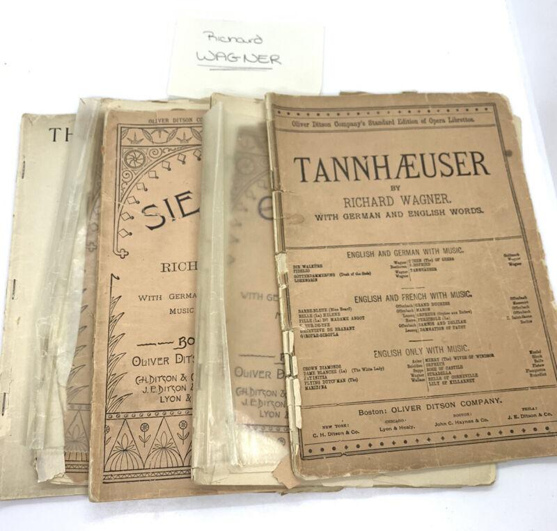 5 Richard Wagner Librettos Play Opera Vtg Books See Desciption