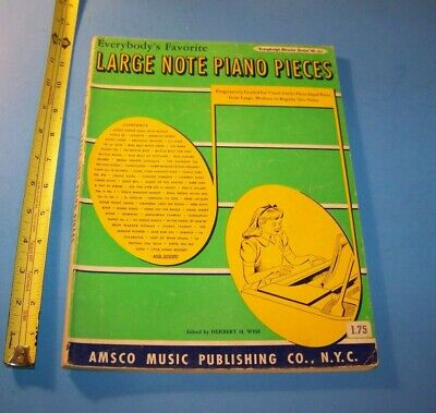 Large Note Piano Pieces Vintage Songbook 1951