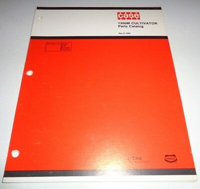 Case 1300m Cultivator Parts Catalog Manual Book Original 1179
