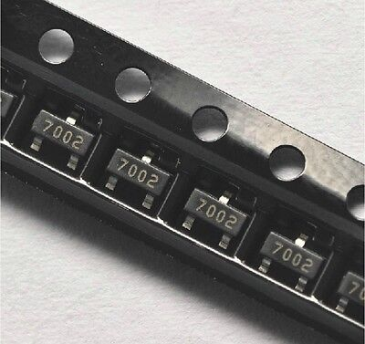 100pcs 2n7002 702 Sot-23 Smd N-channel 60v 115ma Mosfet New