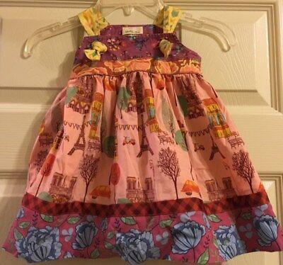 Party City Winter Springs (Matilda Jane City of Lights Knot Dress Secret Fields Girls Size)