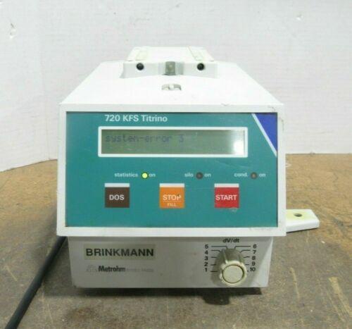 Brinkmann Metrohm Model 720 KFS Titrino Titrator Base Unit Only Power Tested