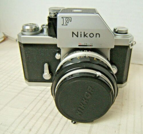 NIKON F CAMERA WITH LENS MINT CONDITION