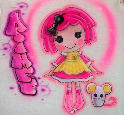 Airbrushed Lalaloopsy Crumbs Sugar Cookie Doll T-Shirt Airbrush Any Name ()