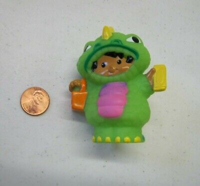 Fisher Price Little People TRICK or TREAT BOY in MONSTER Halloween Costume RARE!