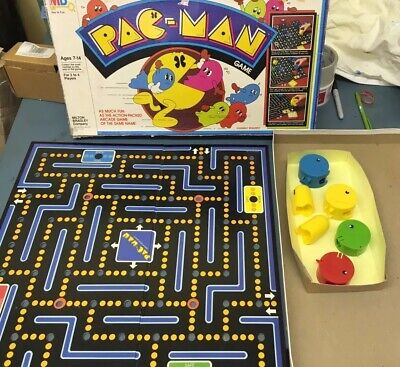 vintage 1980 Pac-Man board table game Milton Bradley incomplete missing pieces