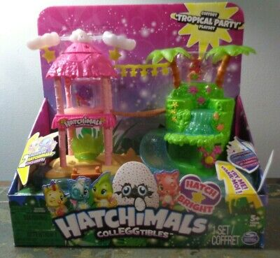 NEW Hatchimals CollEGGtibles Season 4 Tropical Party Playset Island Spin Master