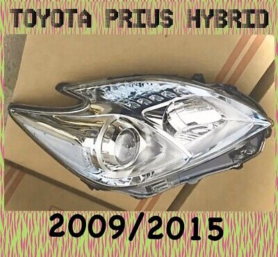TOYOTA PRIUS HEADLIGHT LAMP FRONT DRIVER SIDE RH 2009/2015