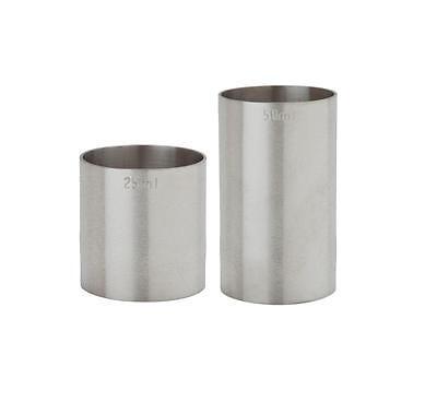 Bar Equipment Spirit/Thimble Measures (Set of two 25ml & 50ml)