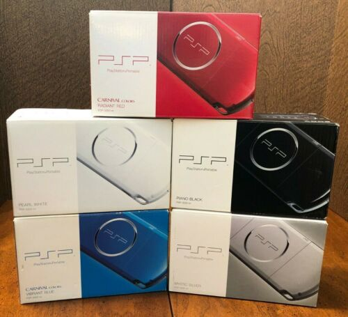 (IN BOX + OEM Battery, Charger) Red Blue White Silver Black SONY PSP 3000 Import