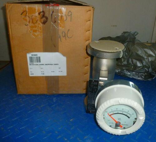 "ABB AM54372 Armored Variable Area Flowmeter w/ Indicator & Alarm / 2"" DN50 / SS"