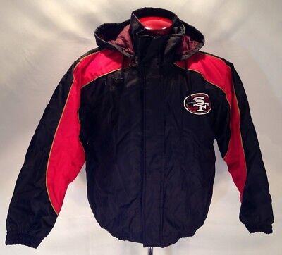 97630257a E30 San Francisco 49ers JEFF HAMILTON NFL NYLON POLYESTER JACKET Size SMALL