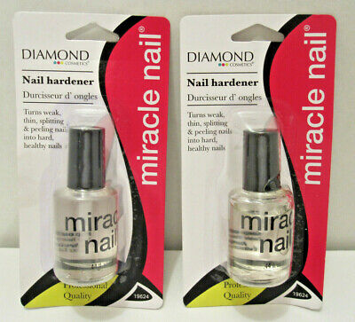 2 Diamondback MIRACLE NAIL Clear Coat Hardener Strengthener Treatment Polish Clear Nail Polish