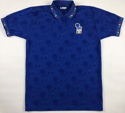 b899d855036 Vintage 1994 World Cup Italy National Soccer Team Diadora Jersey Large L  Retro