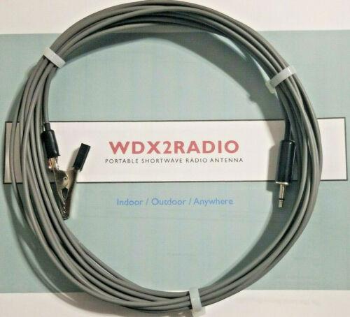 Shortwave & FM Antenna for Portable Shortwave & FM Radios EZ w/ 3.5mm & Clip