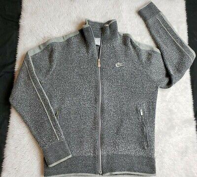 Nike Men's Full Zip Jacket Shirt Long Sleeve Gray Grey WOOL Size Medium