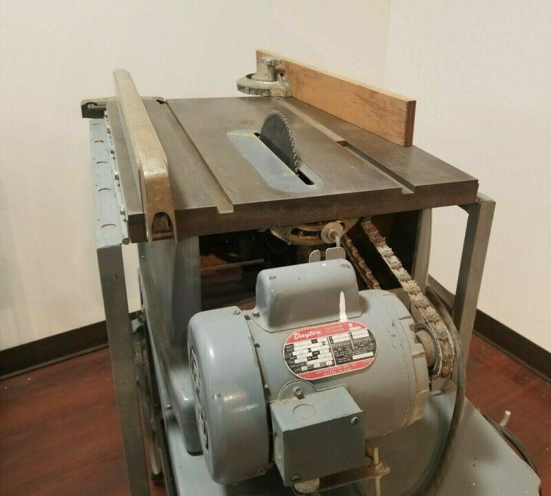 "Craftsman Vintage Table Saw Portable on wheels 10"" diameter"