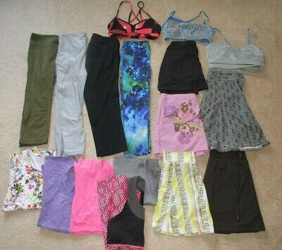 Women S/XS athletic clothing lot. Lucy, Lululemon, Athleta, ALO, RunningSkirts,