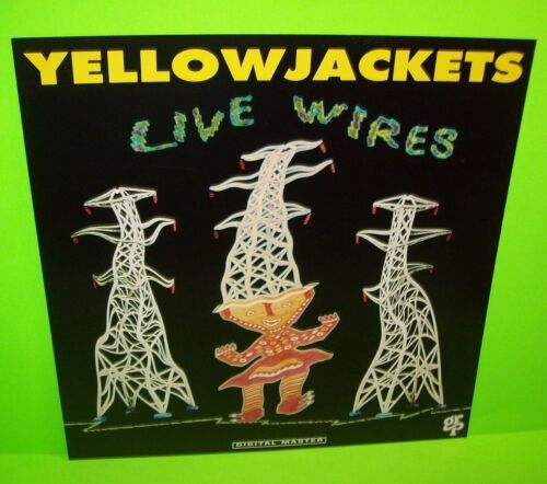 Yellowjackets Live Wires Double Sided Retail Shop Promo Flat Album Artwork Card