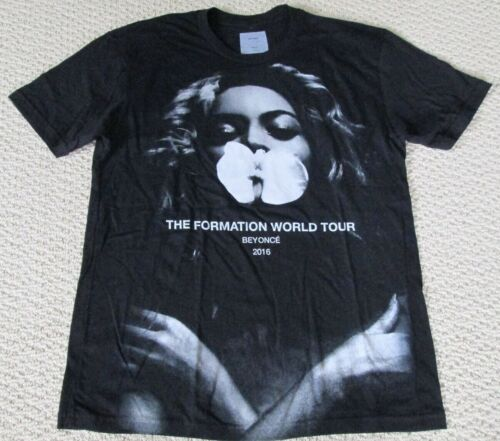 New Authentic Beyonce Formation World Tour Merch Orchid Tour Date Tee Shirt Sz S