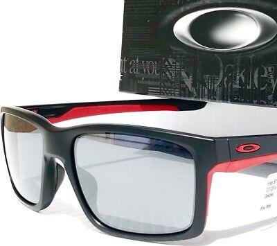 NEW* OAKLEY MAINLINK Matte Black Ducati Red Black Iridium Lens Sunglass 9264-12