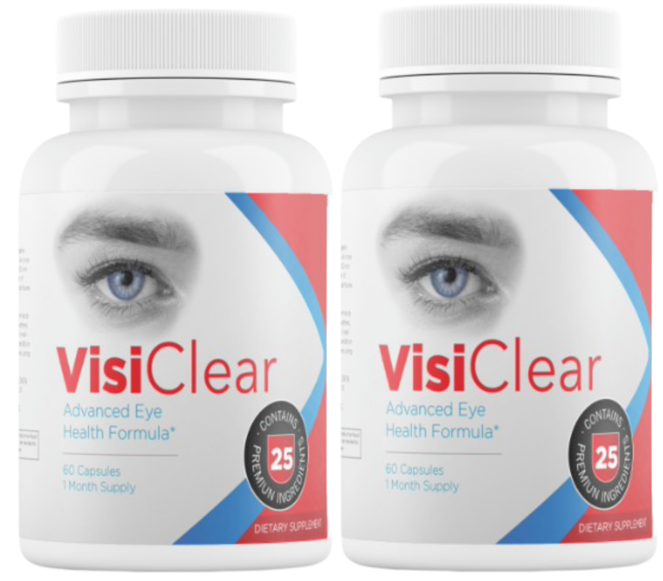 2 BOTTLES VisiClear Advanced Eye Health Formula 120 Capsules - 60 Day Supply