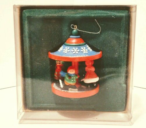 Hallmark 1981 Skaters Carousel Tree Trimmer  Collection Christmas Ornament