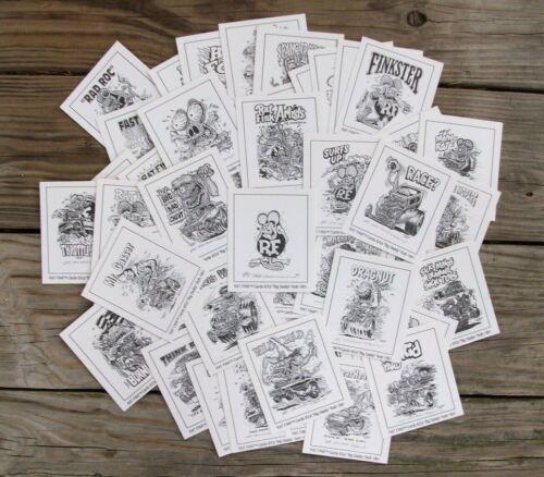 Vintage Original 1991 Ed Big Daddy Roth Rat Fink Monster Hot Rod Cards Lot of 60