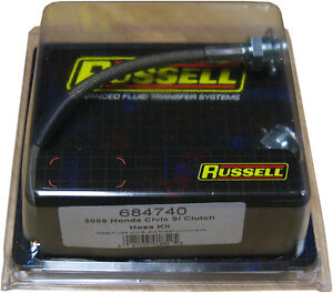 Russell-684740-Stainless-Steel-Clutch-line-for-2006-2010-Honda-Civic-Si