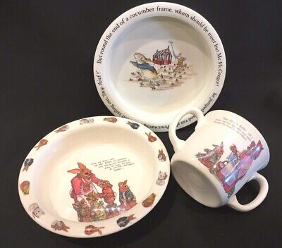 Peter Rabbit Ceramic Bowl by Wedgwood Of Etruria & Barlaston & Melamine Set