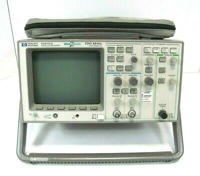 Hp Mega Zoom 54645a 2 Channel 100 Mhz 200 Msa S Oscilloscope W Probes
