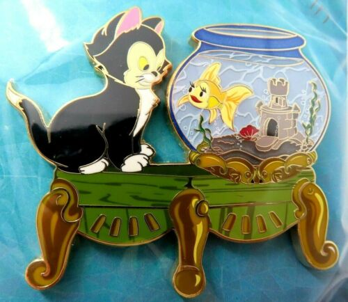 Disney Pin Artland UK Figaro & Cleo from Pinocchio LE 200 SOLD OUT #143559