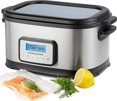 Andrew James Digital Sous Vide Water Bath Oven Cooker, Rack & Tongs 6 Litre 250W
