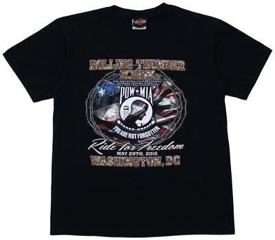 Harley-Davidson Motorcycles T-Shirt Black Rolling Thunder XXIX 2016 Size Medium